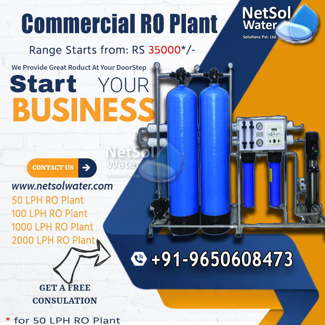 Commercial RO Plant with UV Purification System-Netsol Water-9650608473